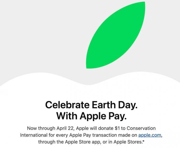 Apple Jour de la Terre Don Transaction Apple Pay