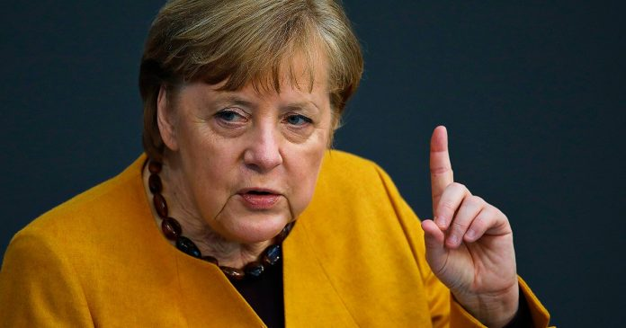 Merkel defends the closures and curfews, saying: