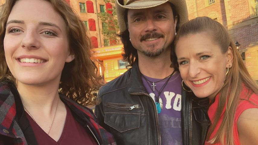 Stephanie Hertel (right) with her daughter Joanna and husband Lani