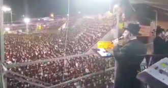 Israel, the party at a gathering of ultra-Orthodox Jews on Mount Meron before the disaster: people jump and sing in the stands - video