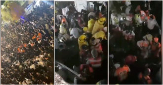 Israel, rescuers make their way through the crowd trying to revive people on the ground - video