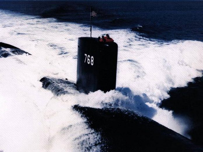 Green light to dive.  Then the submarine disappears into the air