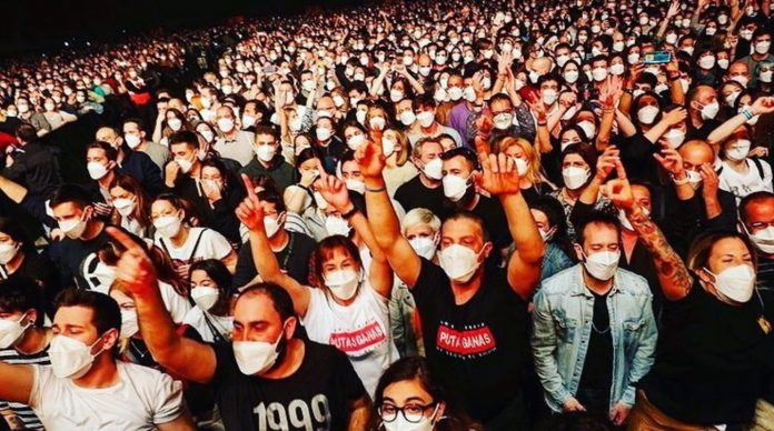 No one has been infected after testing the concert with 5,000 participants in Barcelona