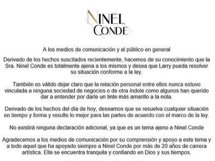 Ninil Conde does not agree with the accusations that her husband, Larry Ramos, was arrested for (Photo: Twitter / ventaneando)