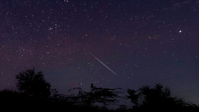 There will be a meteor shower this week