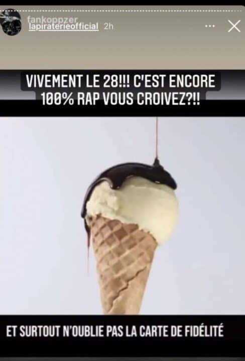 Booba mocks the partnership between Gims and the Magnum Ice Cream brand