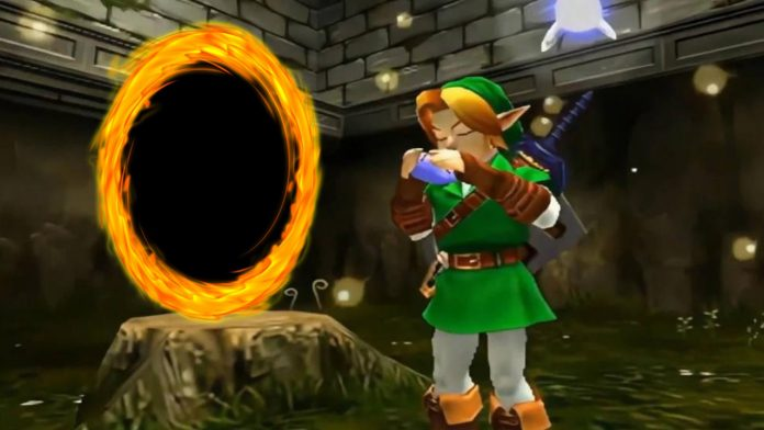 Find out that the legend of Zelda: Ocarina of Time has portals for traveling through Hyrule