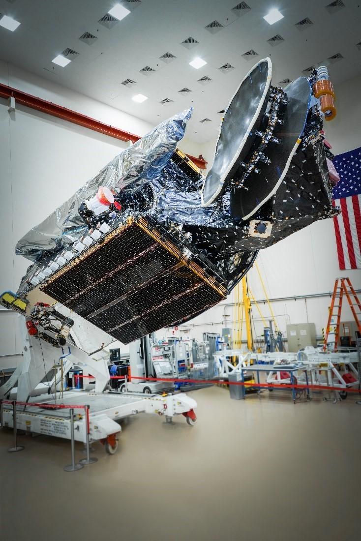 Sirius XM 8 satellite awaits launch on a SpaceX Falcon 9 rocket.