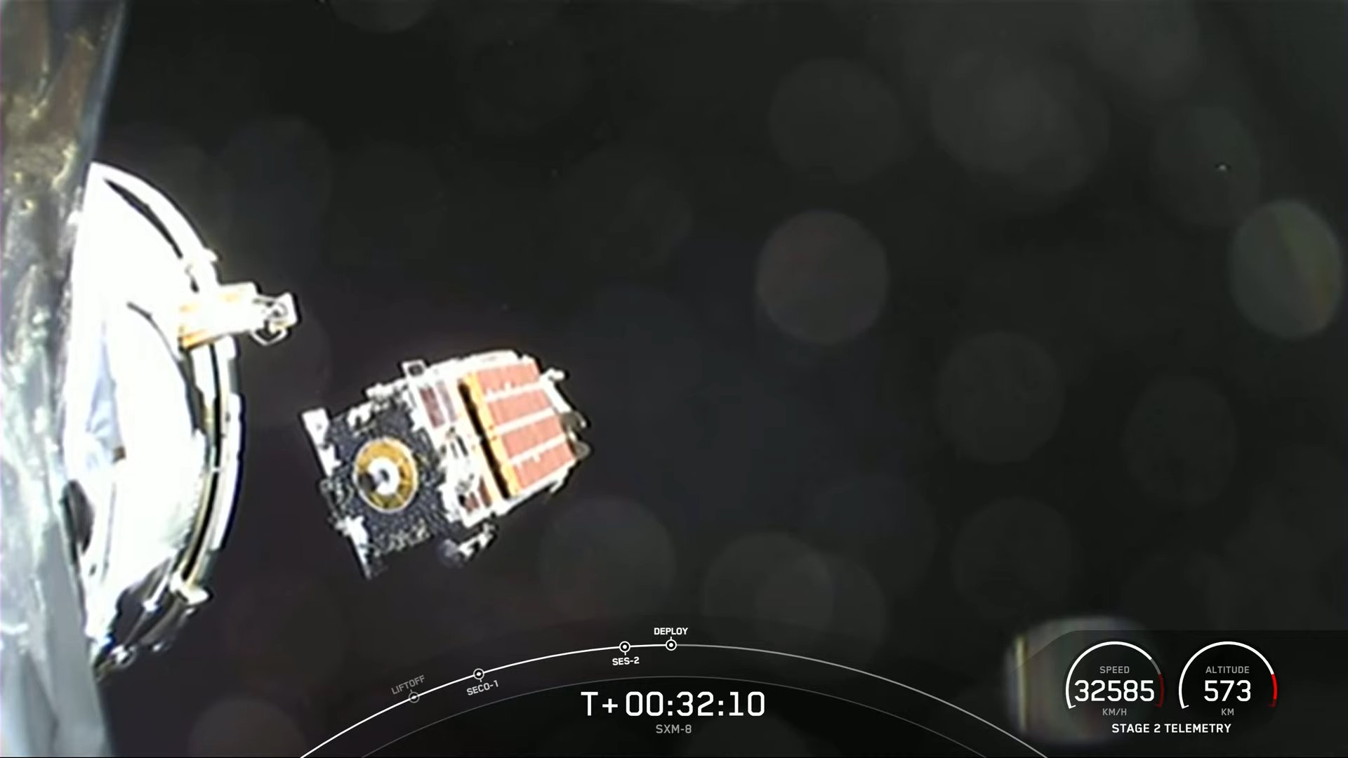 The Sirius XM SXM-8 satellite has been put into orbit after its successful launch by SpaceX on June 6, 2021.