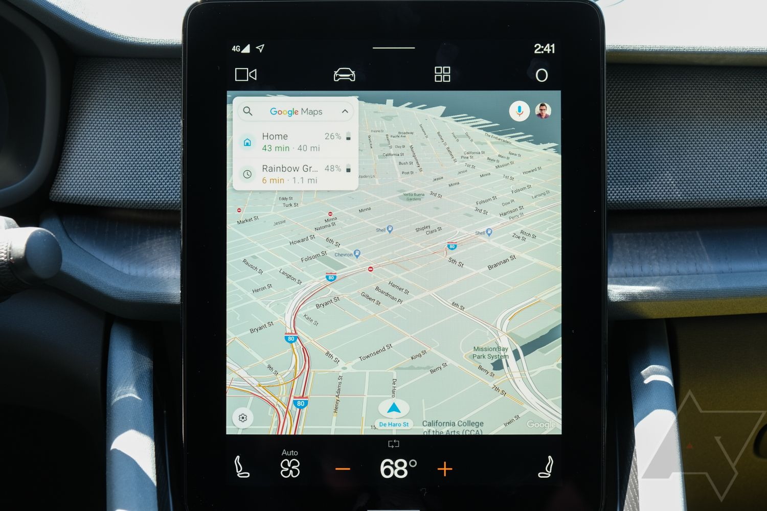 Show android auto app