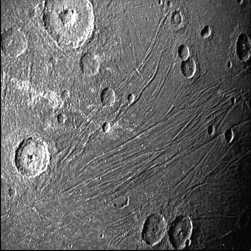 Spacecraft flies over Jupiter's massive moon, first close-up shot in years