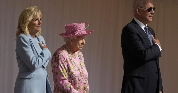 'He wouldn't be upset if...' Joe Biden touched the slip, what he told Queen Elizabeth at Windsor Castle - El Tempo