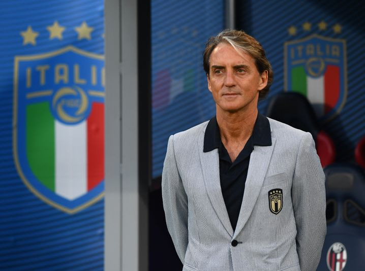 Mancini also cuts a good character on the sidelines