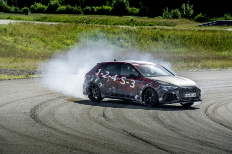 Audi RS 3 Sportback Tango Red Camouflage, drift enthusiast