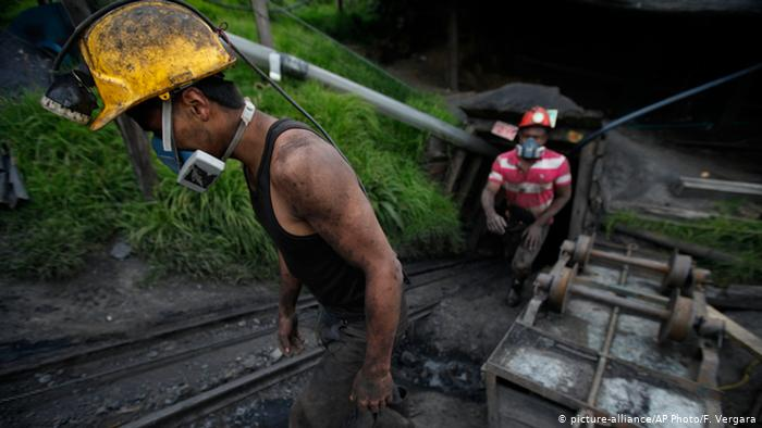 Miners in Colombia.