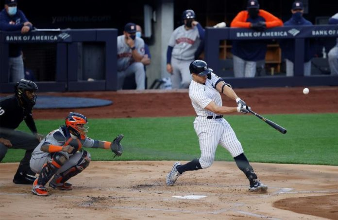 9-6.  Stanton hits home twice against twins