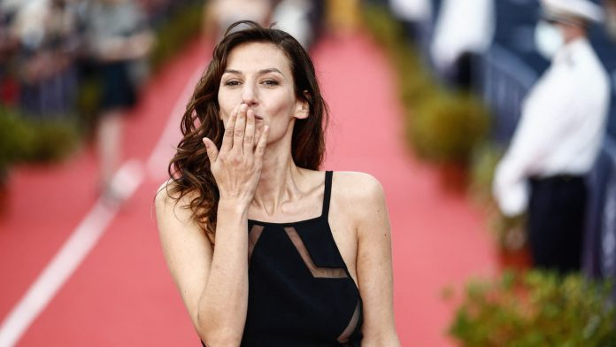 Actress Doria Teller, mistress of the festivities at the 74th Cannes Film Festival