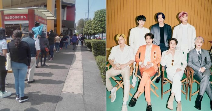 BTS unleashed euphoria in Mexico: this is how their fans packed a place in Nuevo Leon to try their roster