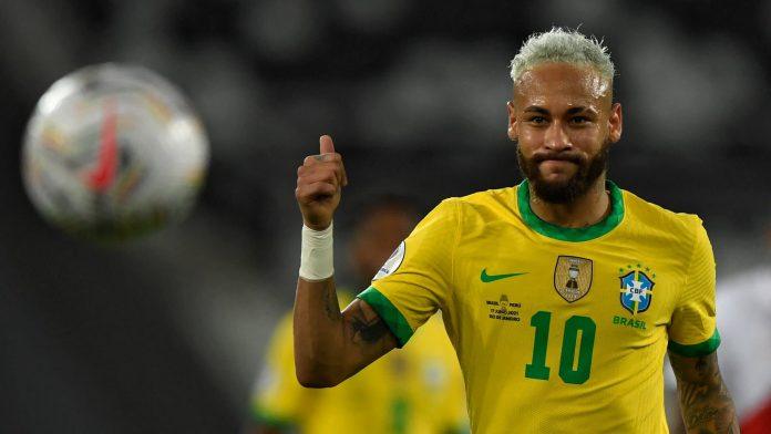 Brazil wins with a great Neymar
