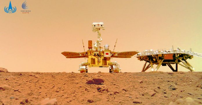 China's Mars spacecraft brings back a charming selfie of the red planet