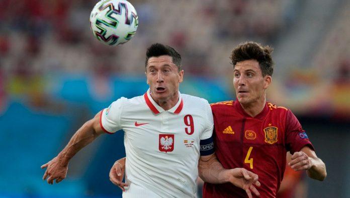 Football EM 2021: Robert Lewandowski catches Poland against Spain