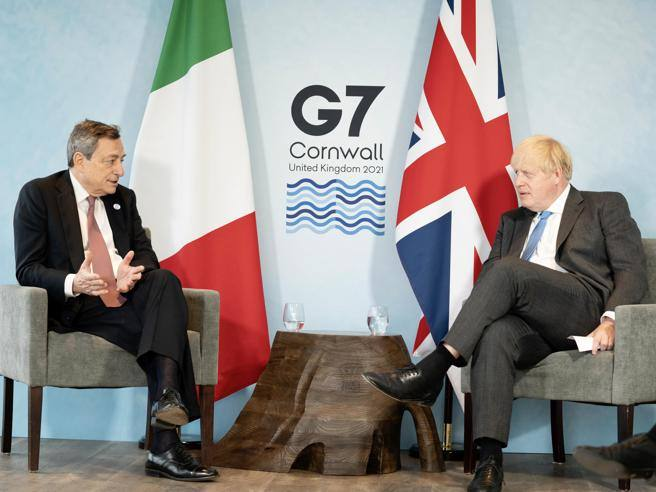 G7, Draghi-Johnson Klima duo, 100 billion for poor countries - Corriere.it