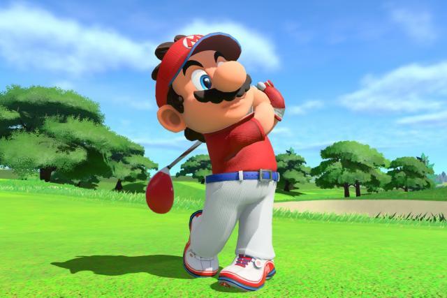 Mario highlights golf clubs in Super Rush