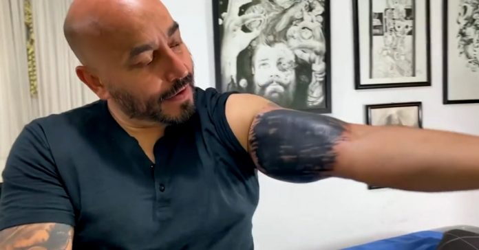 'My 12-year-old designed it': This is how Lobello Rivera responded to criticism of tattoos covering Belinda's face
