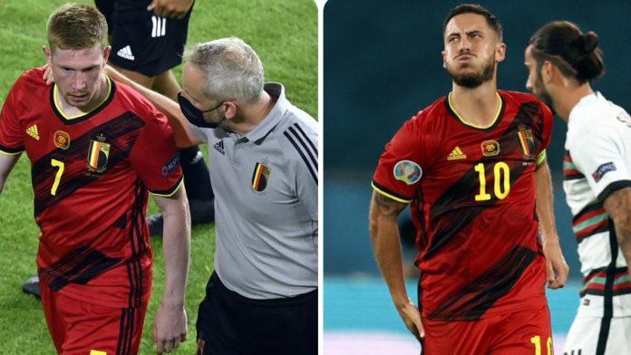 Roberto Martinez sur les blessures de De Bruyne et Hazard: «On a besoin de 48 heures pour savoir ce qu'il en est»