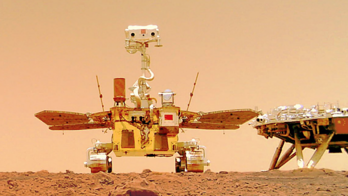 Space: China's Zhurong rover sends a selfie from Mars