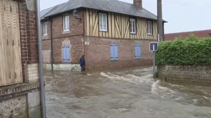 Underwater streets in Normandy and the East