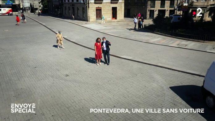 Video.  Pontevedra, a city without cars