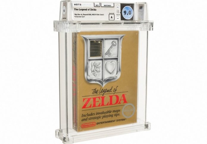 Zelda video game cartridge sold for 730,000 euros at auction (AFP)