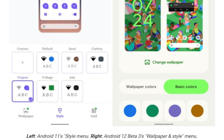 android style options 12