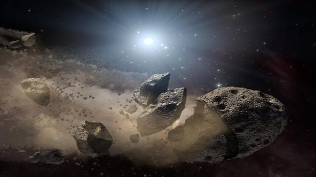The image recreates an asteroid explosion that long ago caused the extinction of the dinosaurs on Earth (Image: NASA)