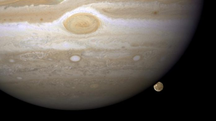 Space: Water vapor was first detected in the atmosphere of Jupiter's largest moon