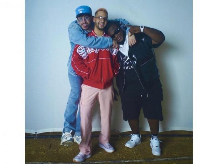 Bad Bunny, Mora, and Sech perform a remix of