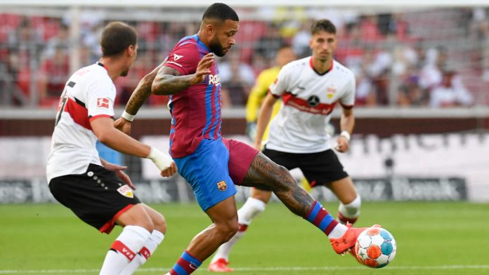 Depay criticizes Golazzo in a friendly match against Stuttgart, Griezmann shows himself
