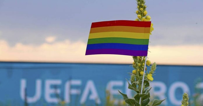 EM: Fans are not allowed to show the flag on the rainbow