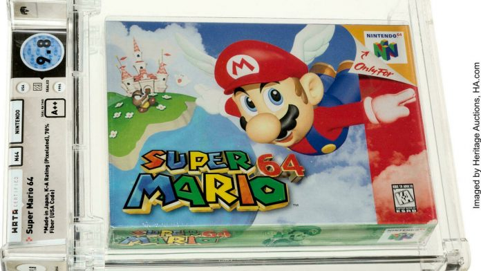 Super Mario 64 cartridge sold for $1.56 million at auction, a new record for video games
