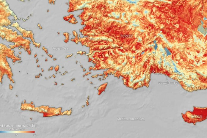 global warming |  Turkey and Cyprus cook at 50°C on the ground