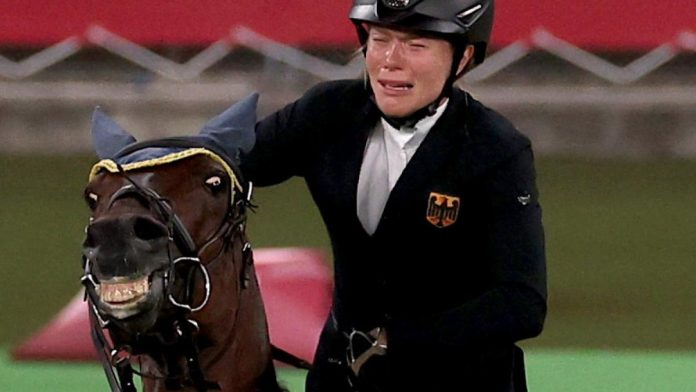 Annika Schleu: Germany's favorite gold with tears on a stubborn horse