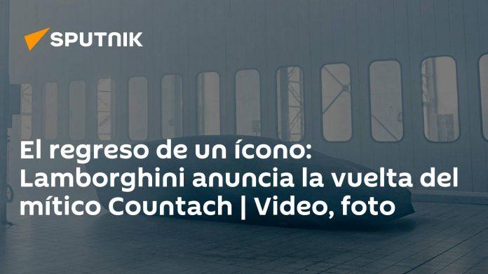 Icon return: Lamborghini announces the return of the legendary Countach |  video, photos