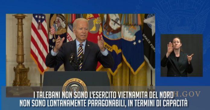 Afghanistan, a month ago Biden said: