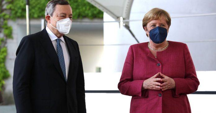 Draghi listens to Merkel: