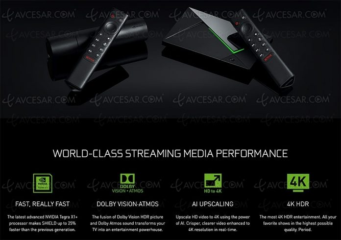 Box nVidia Shield TV, not even Android 10 but development still in progress