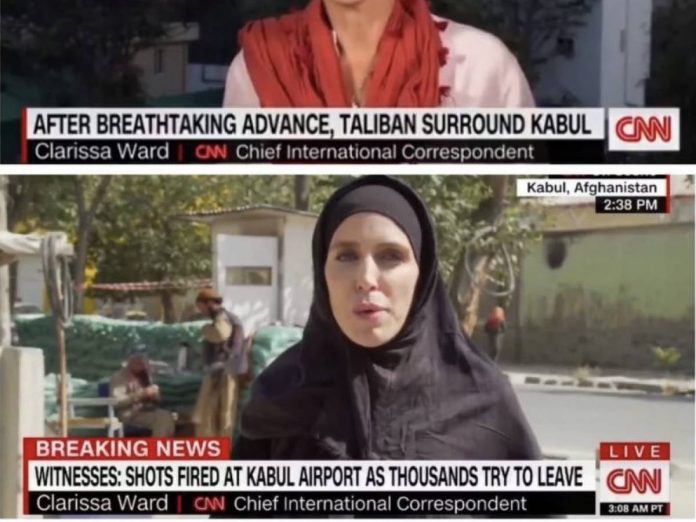 CNN journalist in hijab after the Taliban's arrival: What's behind this photo