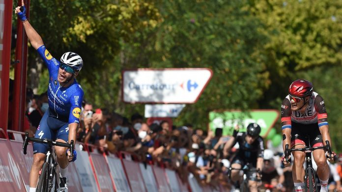 Florian Sanachal scored his first Grand Tour victory on stage 13