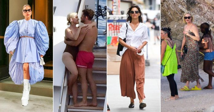 From Katy Perry and Orlando Bloom's spirited Capri getaway to Katie Holmes' New York outing: celebs are a click away