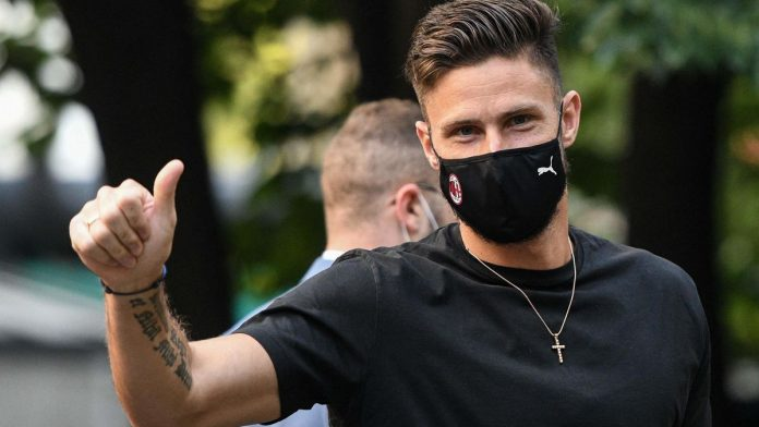 Olivier Crowd scored four minutes after playing his first game with AC Milan